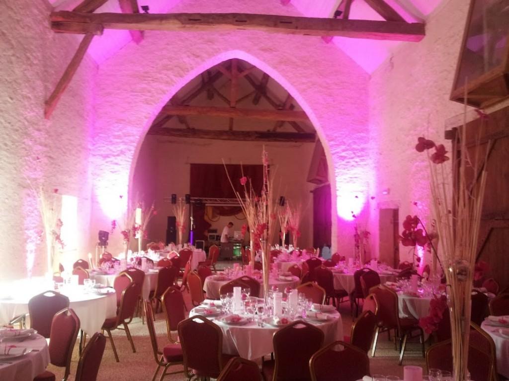 Décoration salle mariage Juin 2012 au Chateau de Bussy-Rabutin
