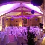 Eclairage Mariage salle du Chateau Vauban à Bazoches en Morvan Nièvre