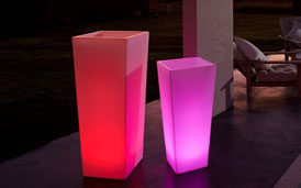Vases lumineux à leds (RGB)