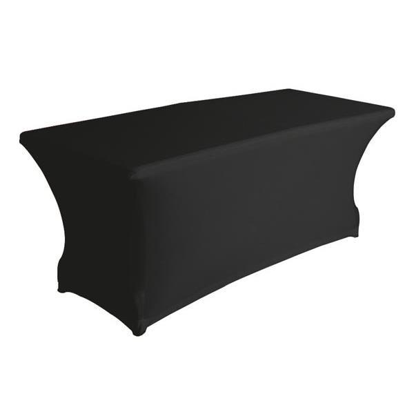 Location housse extensible lycra pour table rectangulaire noir MLA DIJON