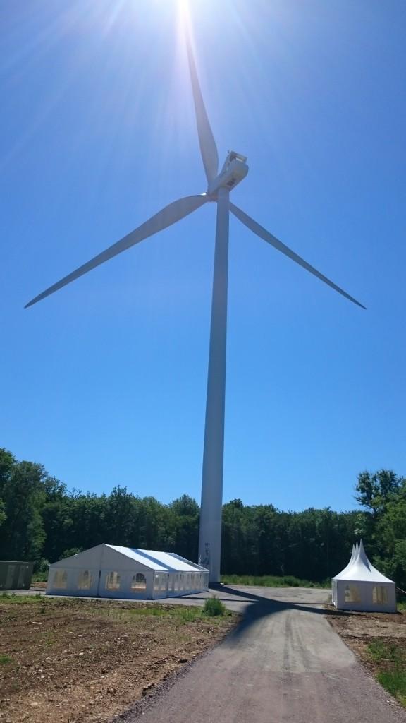 Location Chapiteau Inauguration parc éolien de Cote d'or