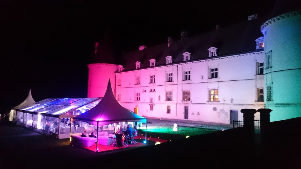 Eclairage Chapiteau et façade château By MLA Dijon